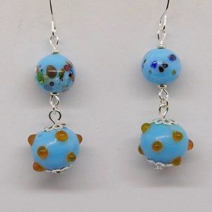 Spotted Blue Earrings